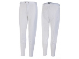 TKO Race Breeches - White Lyrca