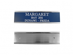 Door card holder and engraved card
