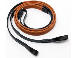 Gibson Leather Loop Ended Reins - Gold Range