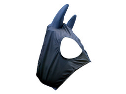 Black Race Hood with Silicone Ears - BHA Approved